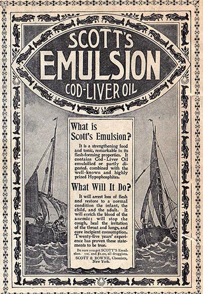 Vintage Cod Liver Oil Advertisement