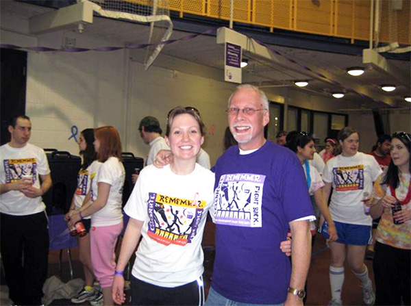 Greg with daughter Johanna at the Relay for Life